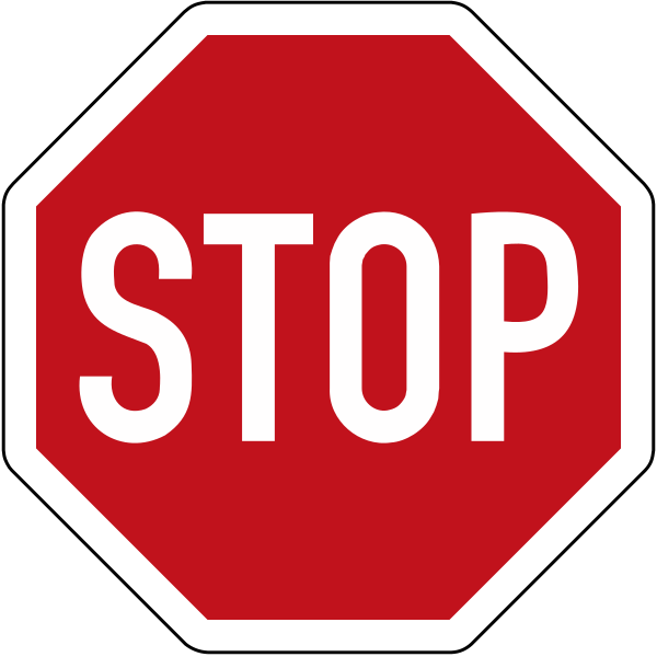 Stop-Schild / Stoppschild